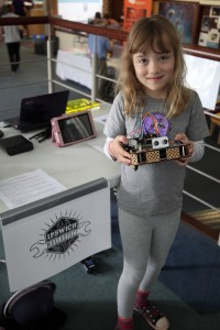 Ipswich robot with child